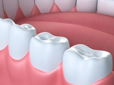 Animated healthy teeth with dental sealants